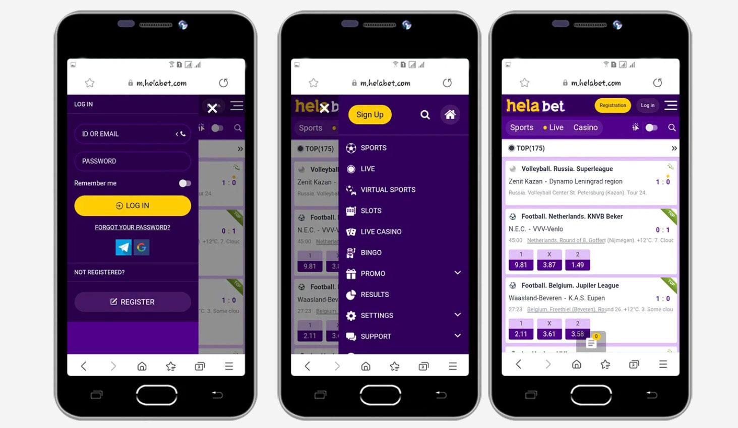 Helabet Mobile Platform